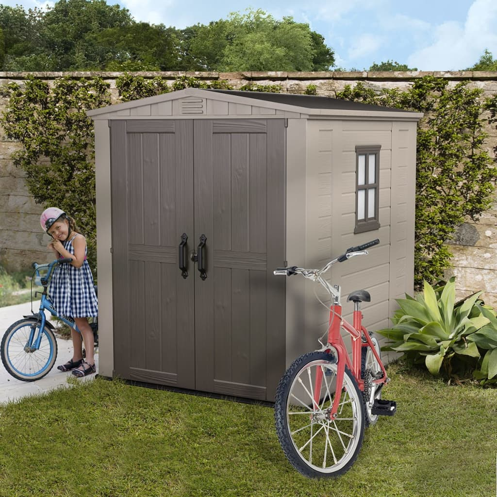 Keter storage shed factor 6x6 17197898 for Garden shed 6x6
