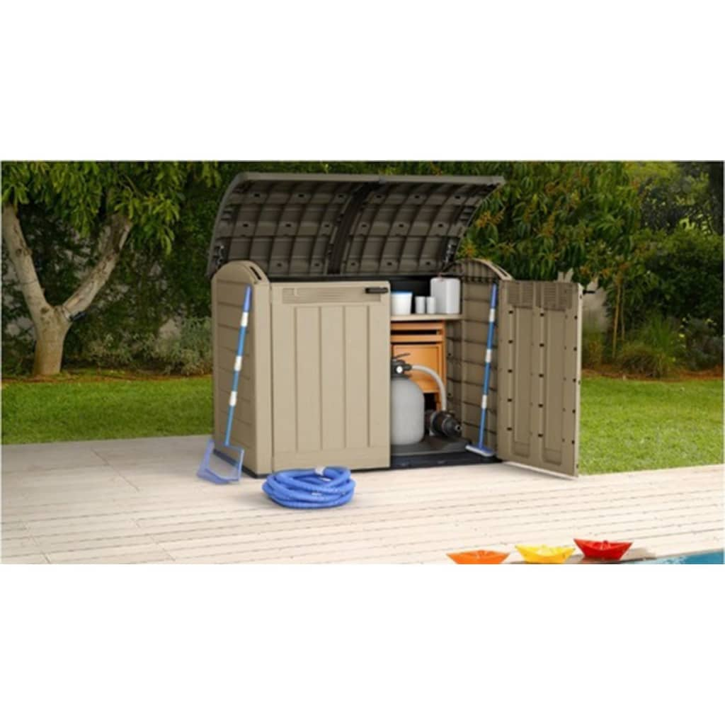 Keter store it out ultra wheelie bin shed - Coffre jardin keter ...