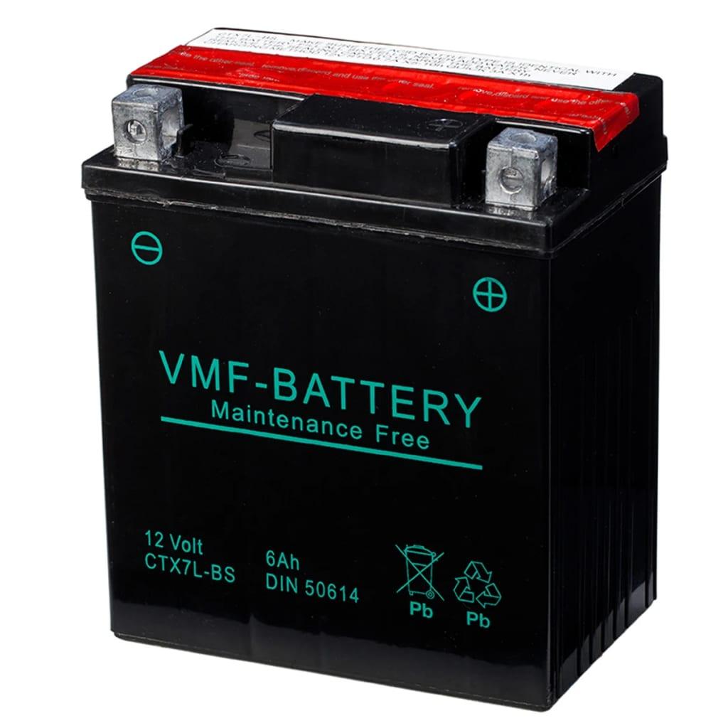 vmf powersport liquifix battery 12v 6ah mf ytx7l bs. Black Bedroom Furniture Sets. Home Design Ideas