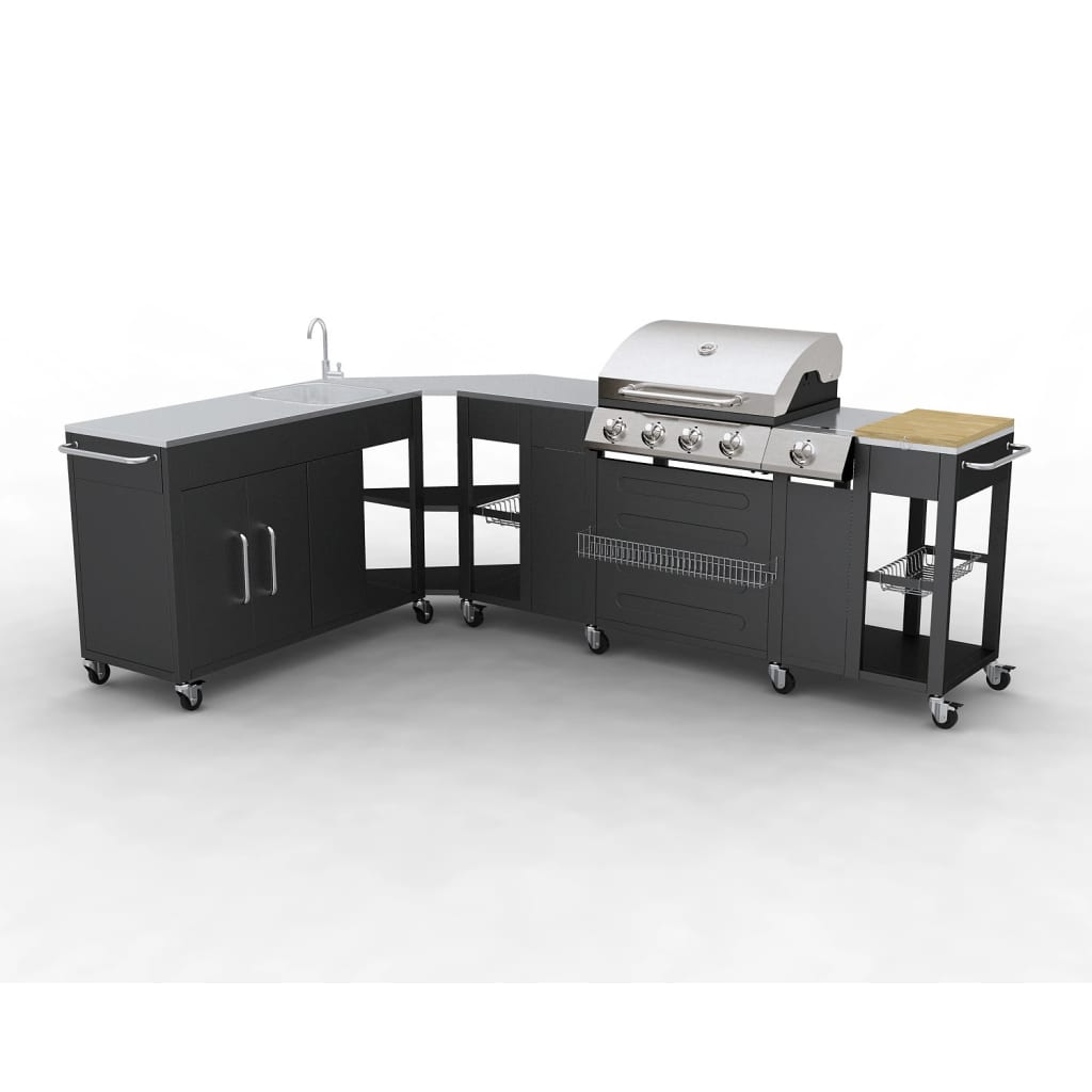 Gas Bbq Barbecue Outdoor Kitchen Stainless Steel 5 Burners