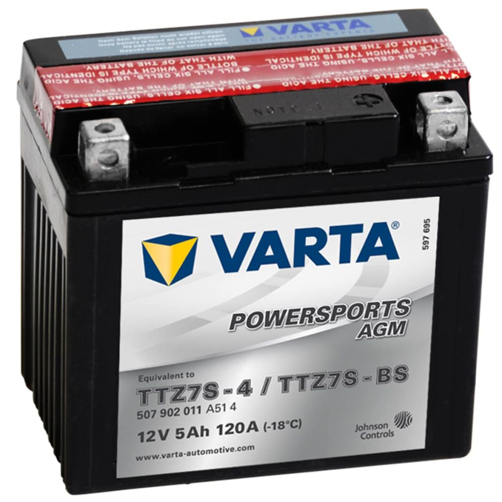 varta agm battery 12 v 5 ah ytz7s 4 ytz7s bs. Black Bedroom Furniture Sets. Home Design Ideas
