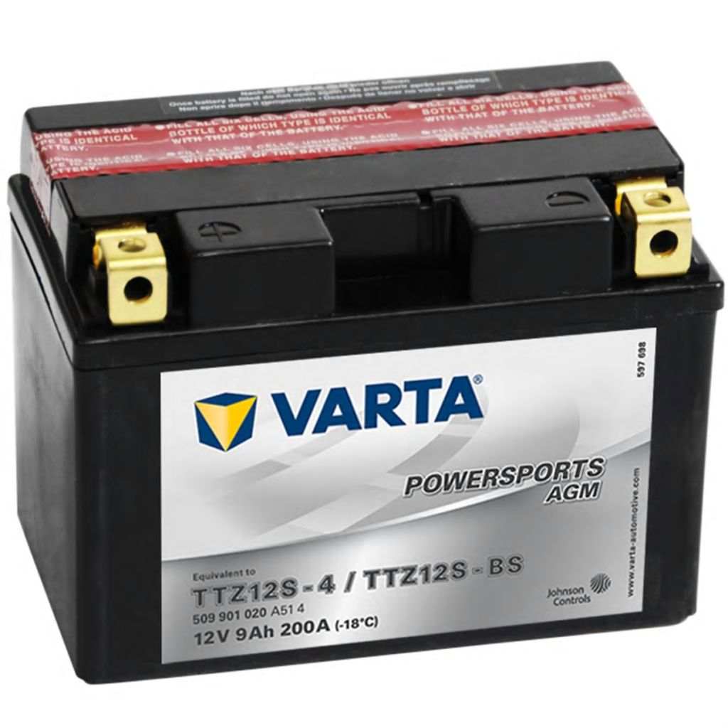 varta agm battery 12 v 9 ah ytz12s 4 ytz12s bs vidaxl. Black Bedroom Furniture Sets. Home Design Ideas