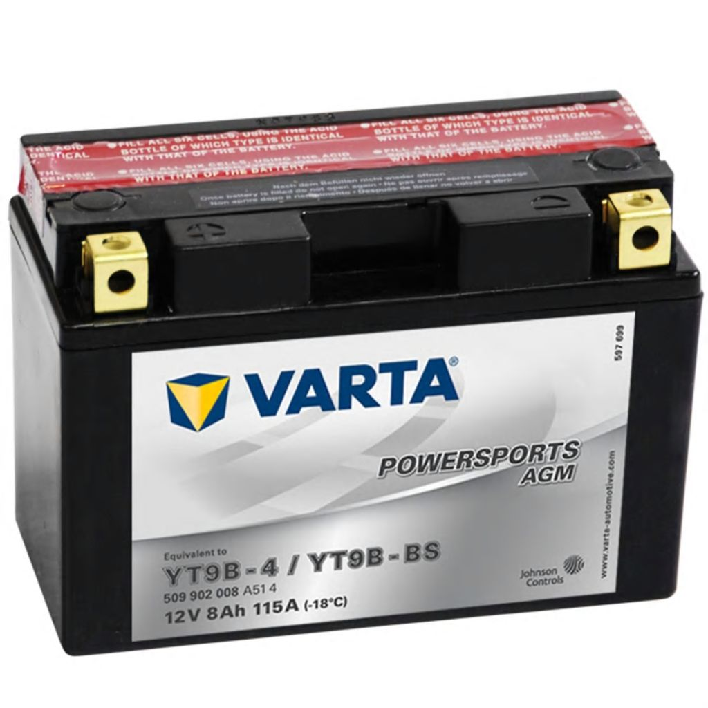 varta agm batterie 12 v 8 ah yt9b 4 yt9b bs g nstig. Black Bedroom Furniture Sets. Home Design Ideas