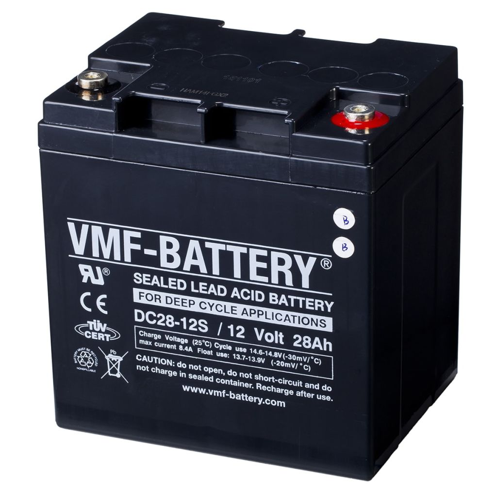 vmf agm deep cycle battery 12 v 28 ah dc28 12s. Black Bedroom Furniture Sets. Home Design Ideas