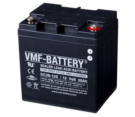 vmf agm deep cycle batterie 12 v 28 ah dc28 12s g nstig. Black Bedroom Furniture Sets. Home Design Ideas