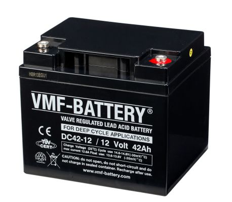 vmf agm deep cycle batterie 12 v 42 ah dc42 12 g nstig. Black Bedroom Furniture Sets. Home Design Ideas