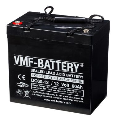vmf agm deep cycle batterie 12 v 60 ah dc60 12 g nstig. Black Bedroom Furniture Sets. Home Design Ideas