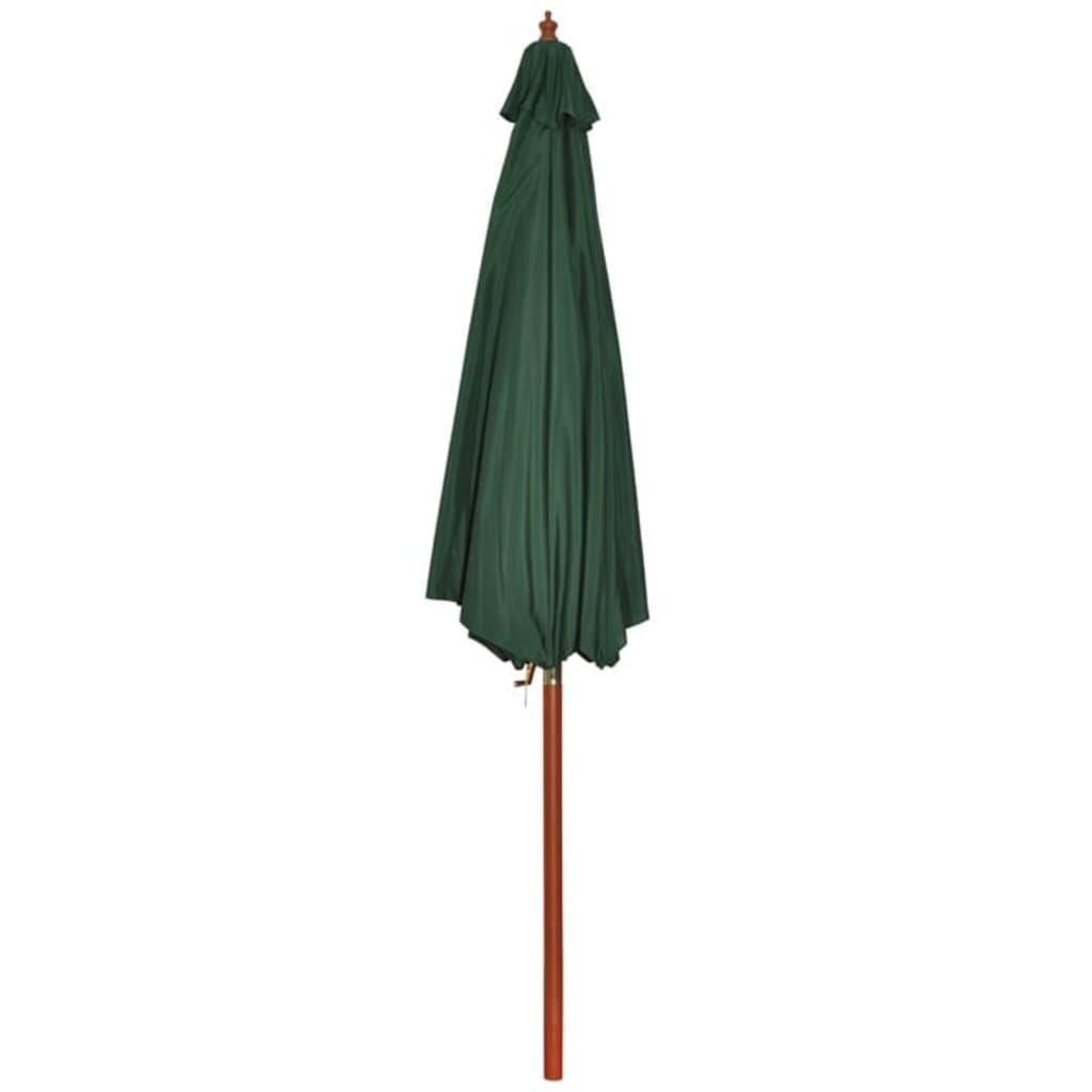 la boutique en ligne parasol sur pied toile verte bois 258 cm. Black Bedroom Furniture Sets. Home Design Ideas