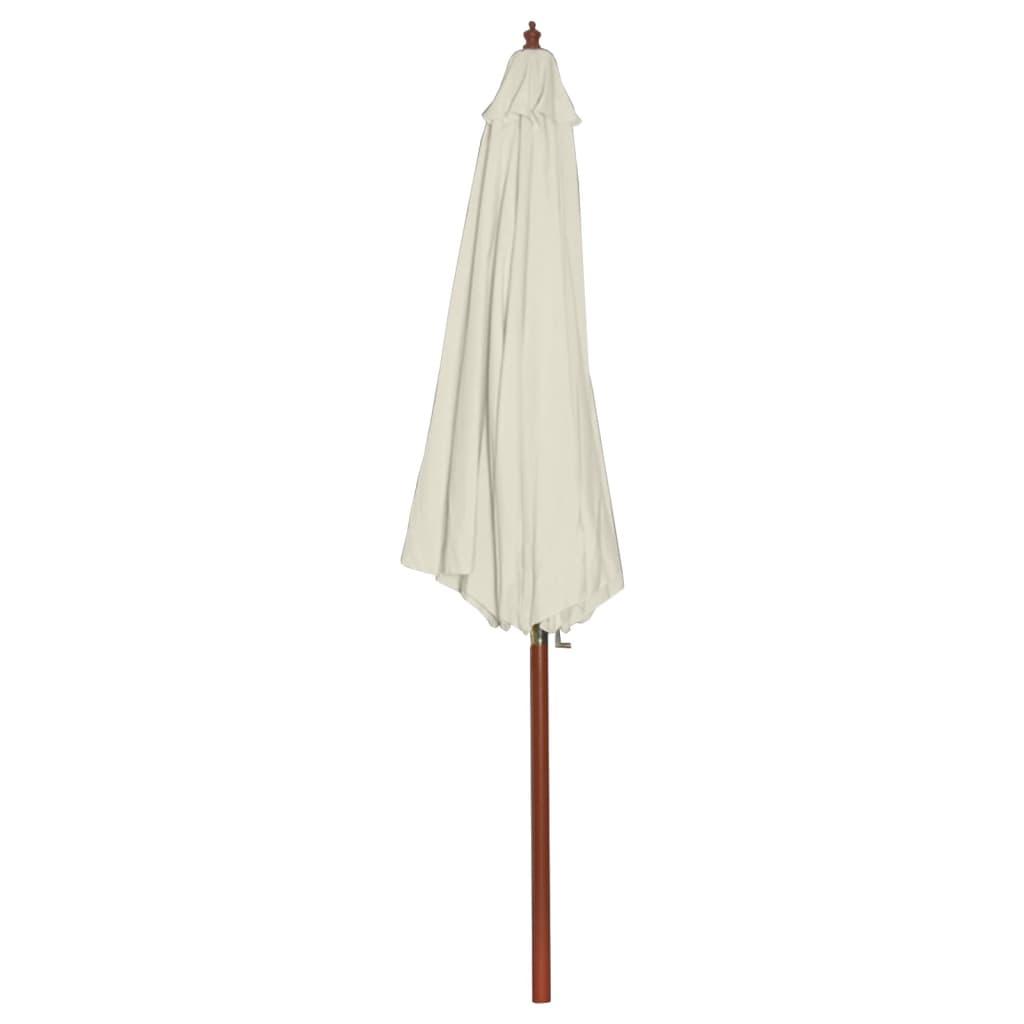 la boutique en ligne parasol sur pied toile blanche bois 258 cm. Black Bedroom Furniture Sets. Home Design Ideas