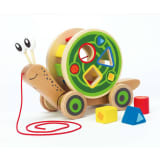 Escargot à tirer Hape E0349