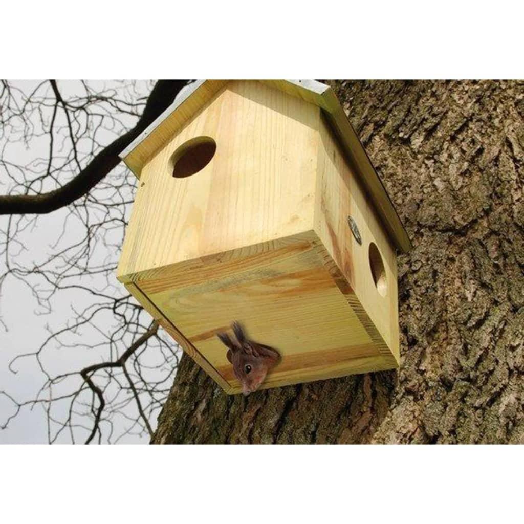 Esschert-Design-WA10-Casetta-scoiattoli-in-legno-pino-con-tetto-zincato
