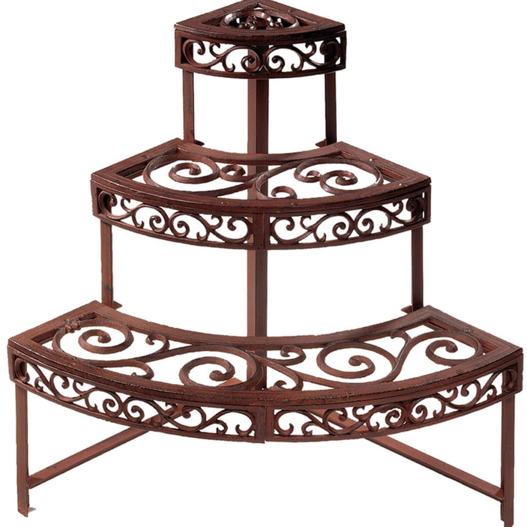 esschert design etagere quarter round bph32. Black Bedroom Furniture Sets. Home Design Ideas
