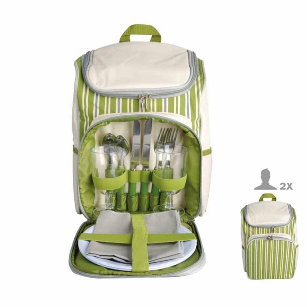 Afbeelding van Esschert Design picknick rugzak 2 pers. gestreept EL053