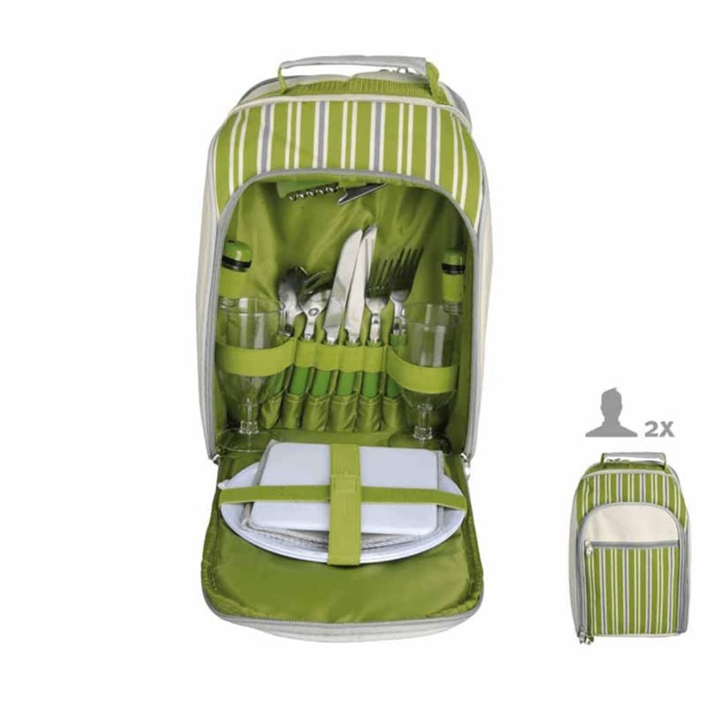 Afbeelding van Esschert Design picknick koeltas 2 pers. gestreept EL054