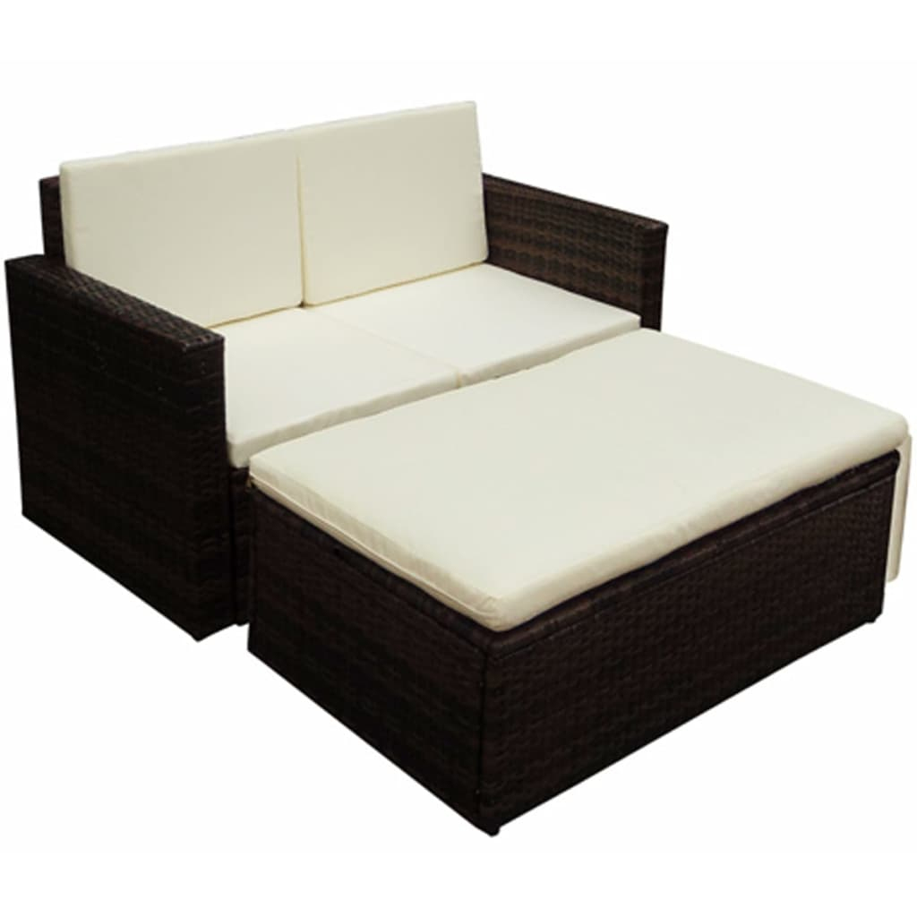 vidaxl poly rattan m bel braun variabel. Black Bedroom Furniture Sets. Home Design Ideas