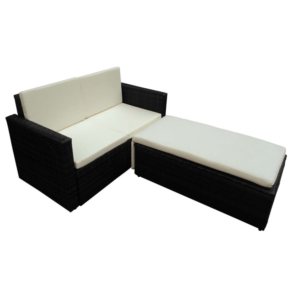 la boutique en ligne canap bain de soleil modulable r sine tress e noire. Black Bedroom Furniture Sets. Home Design Ideas