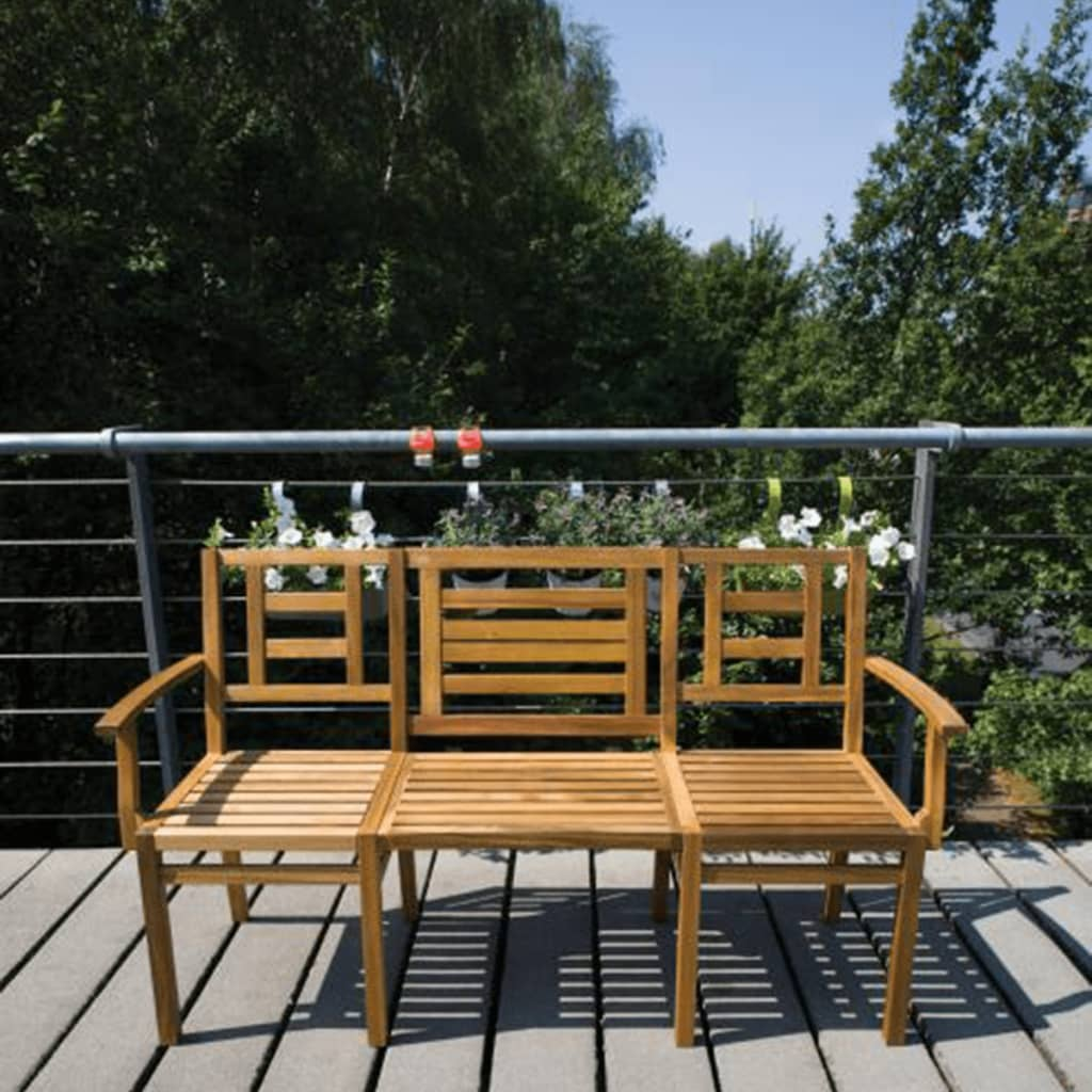 Banco convertible de jard n de madera esschert design - Banco convertible en mesa ...