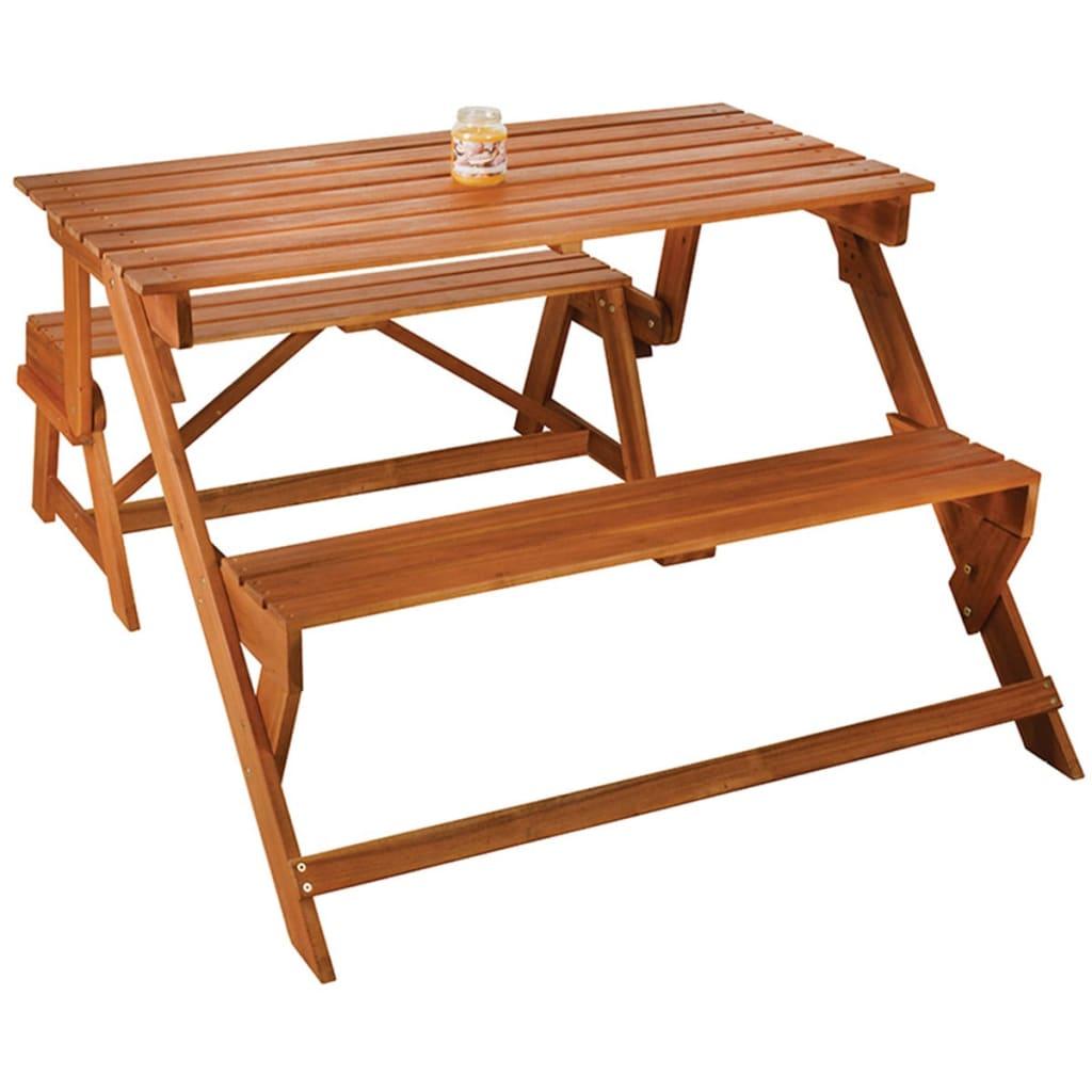 Acheter banc convertible en table de pique nique esschert design bl059 pas cher - Banc de jardin transformable en table ...