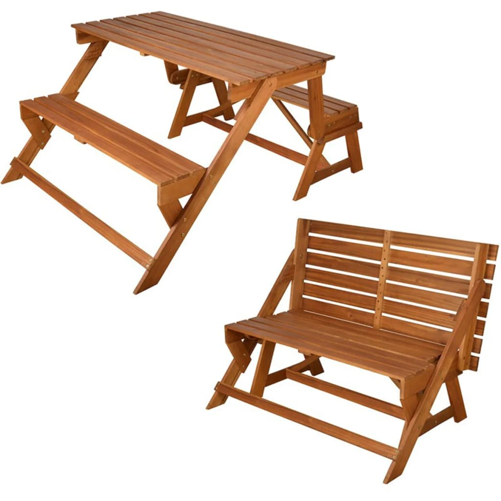 Esschert Design BL059 átalakítható pad/ piknik asztal/ kerti asztal