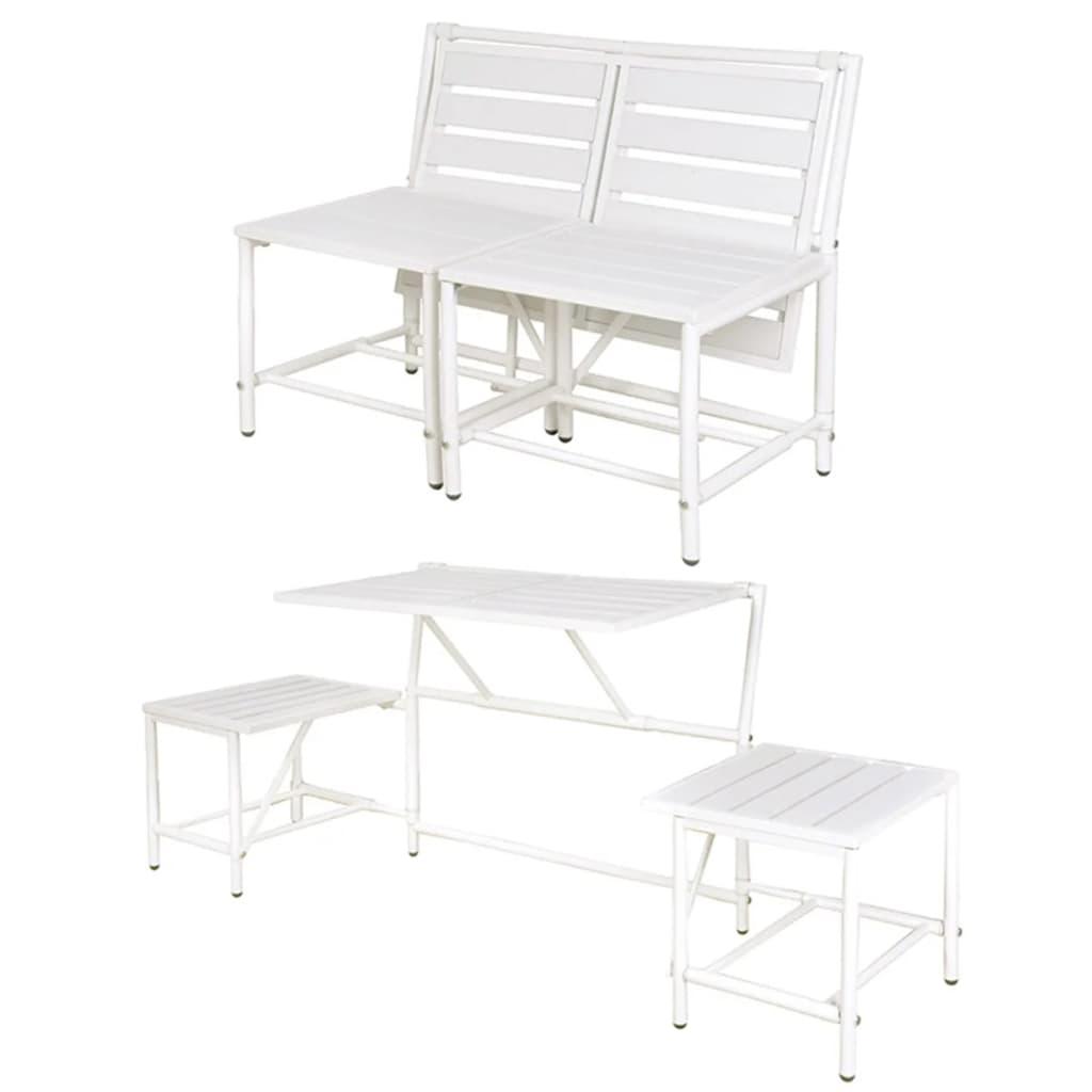 acheter banc de jardin blanc magique esschert design bl064 pas cher. Black Bedroom Furniture Sets. Home Design Ideas