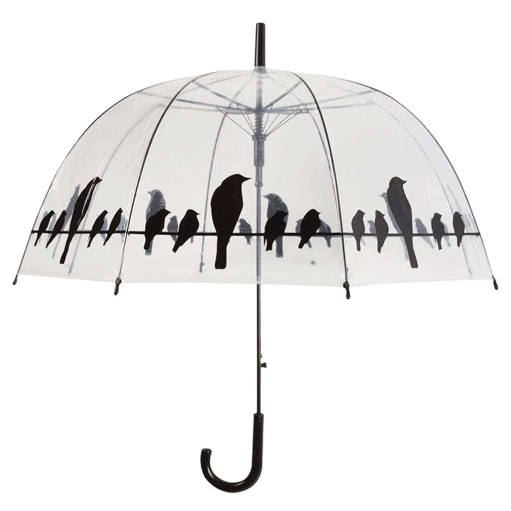 acheter parapluie transparent oiseaux sur un fil esschert design tp166 pas cher. Black Bedroom Furniture Sets. Home Design Ideas