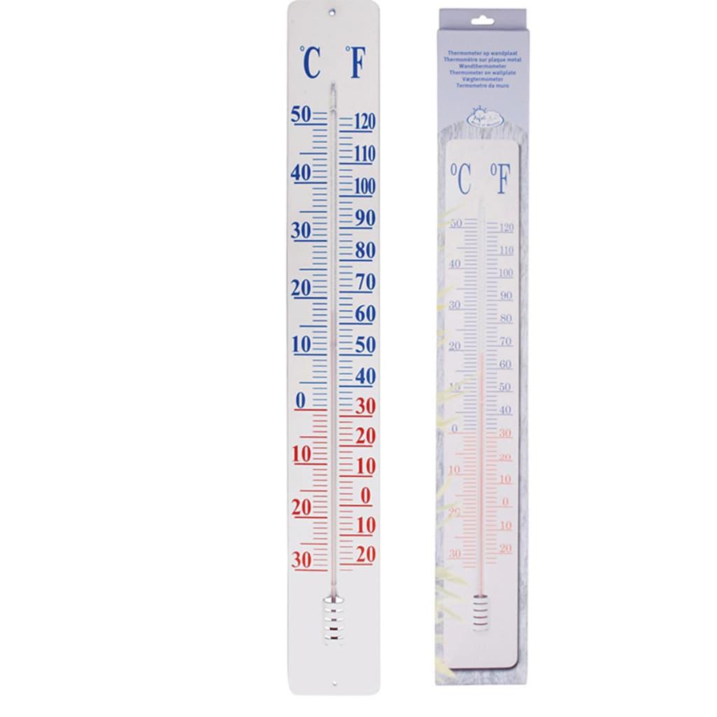 Afbeelding van Esschert Design thermometer op wandplaat 90 cm TH9