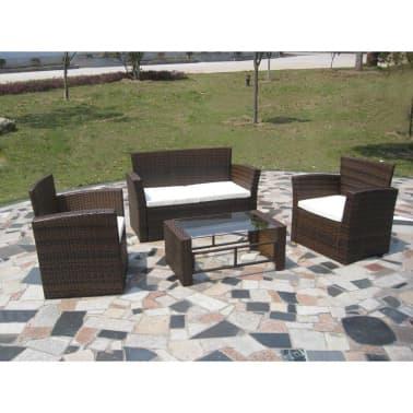 Poly Rattan Lounge Gartenmöbel Set braun[2/4]