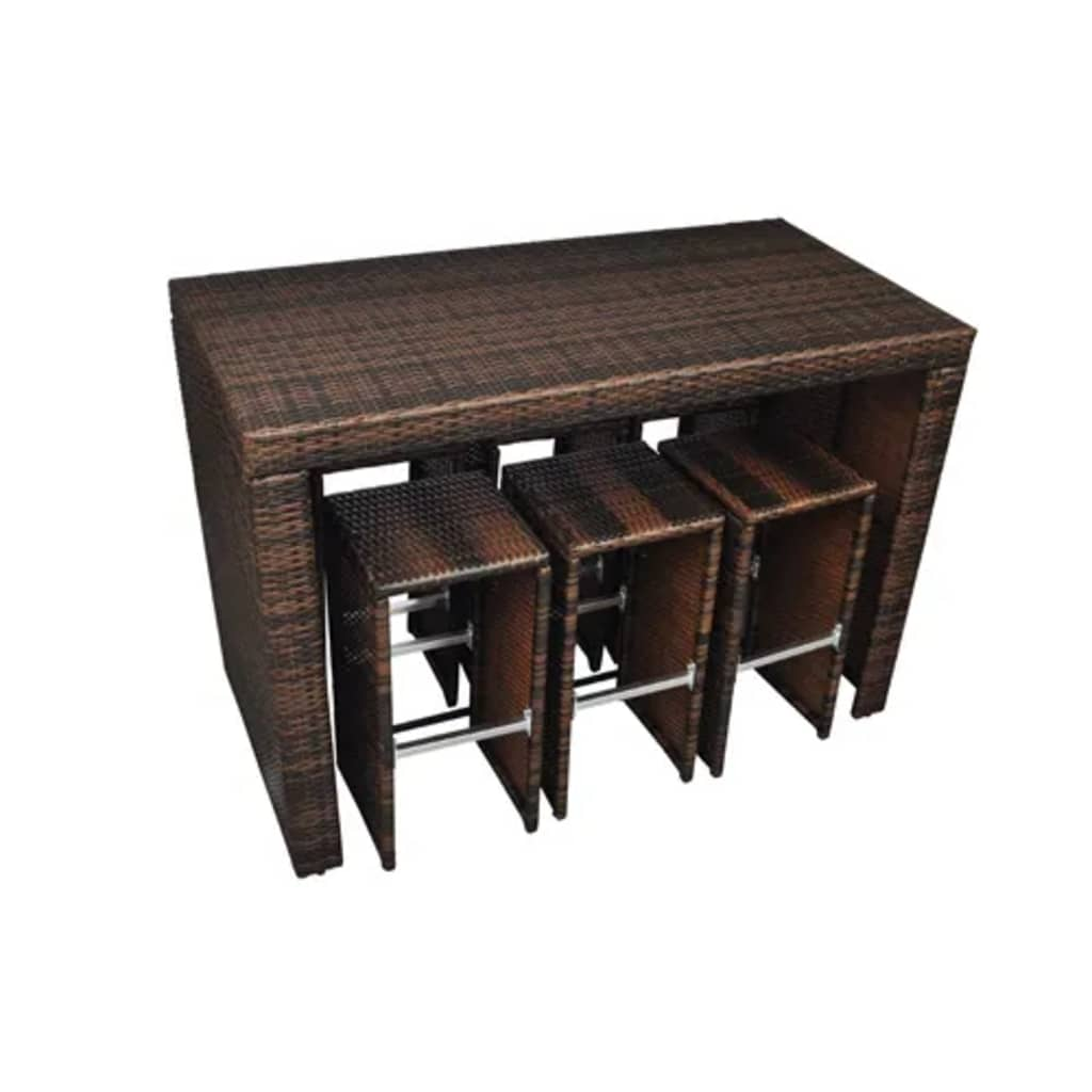 der poly rattan m bel bar in braun online shop. Black Bedroom Furniture Sets. Home Design Ideas