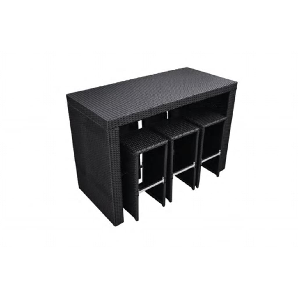 der poly rattan m bel bar in schwarz online shop. Black Bedroom Furniture Sets. Home Design Ideas