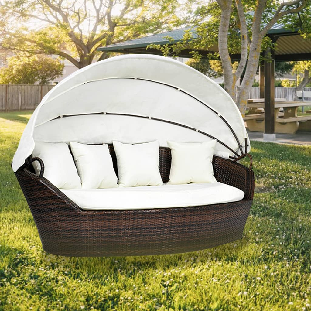 rattan sonneninsel sonnenliege strandkorb gartenmuschel sitzgarnitur gartenm bel ebay. Black Bedroom Furniture Sets. Home Design Ideas