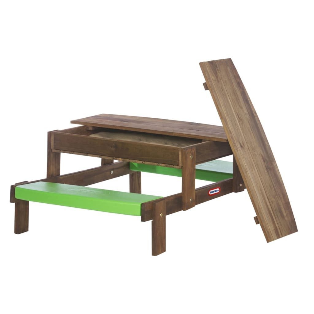 Little tikes lt 2 in 1 wooden picnic table built in sand pit 172847 - Table 2 en 1 ...
