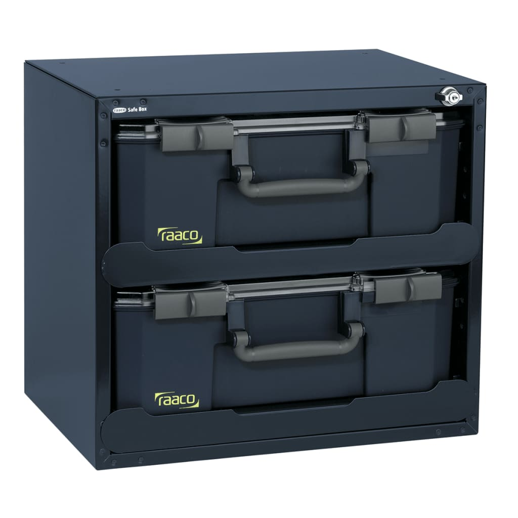 raaco-safe-box-with-2-carrylite-150-assortment-boxes-136396