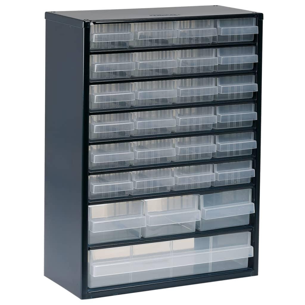 raaco schrank 928 123 mit 28 schubladen 137492 g nstig. Black Bedroom Furniture Sets. Home Design Ideas