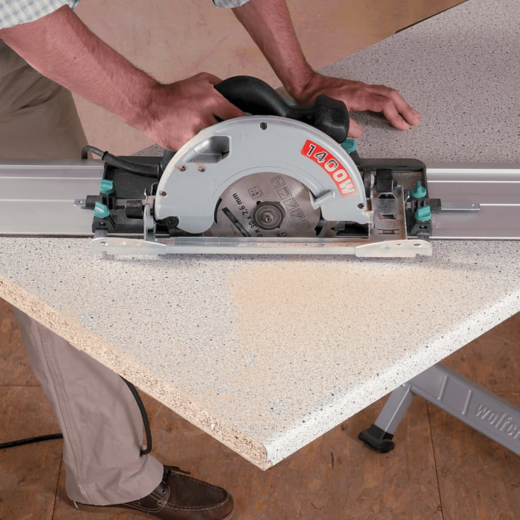 Wolfcraft guide rail for circular saw fks for Table wolfcraft