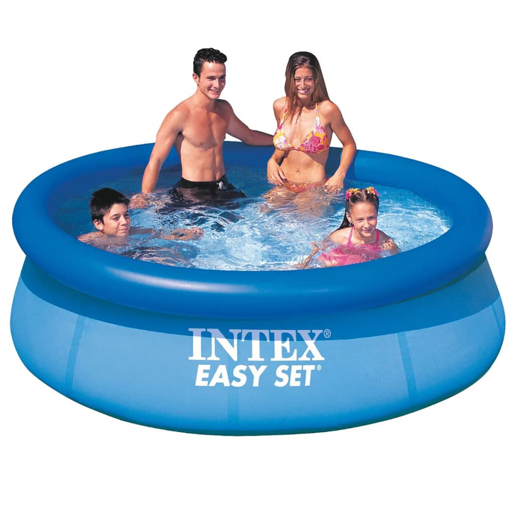 Intex easy set swimming pool schwimmbecken rund 244 x 76 for Pool schwimmbecken