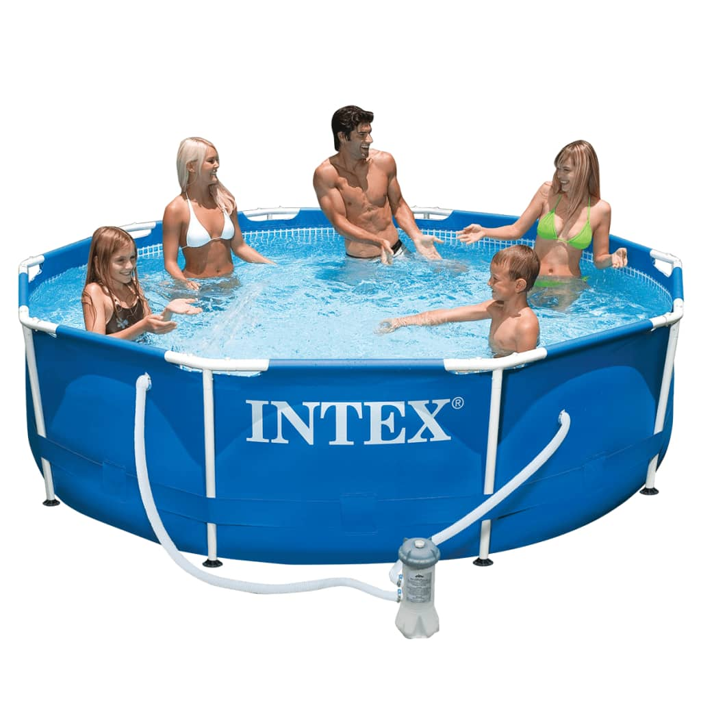 intex metal frame pool 305 x 76 cm 28202gn. Black Bedroom Furniture Sets. Home Design Ideas