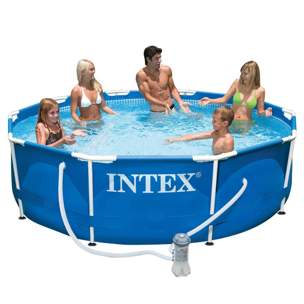 Intex metal frame pool 305 x 76 cm 28202gn for Intex swimming pools australia