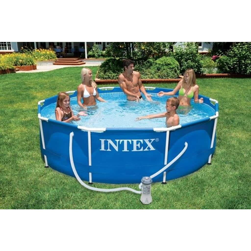 Intex metal frame pool 366 x 76 cm 28212gn for Intex webshop