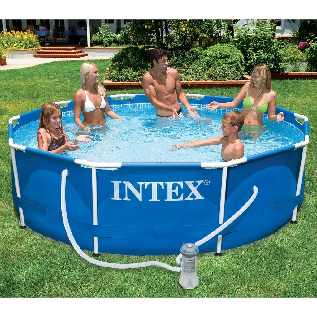 intex metal frame pool 366 x 76 cm 28212gn. Black Bedroom Furniture Sets. Home Design Ideas