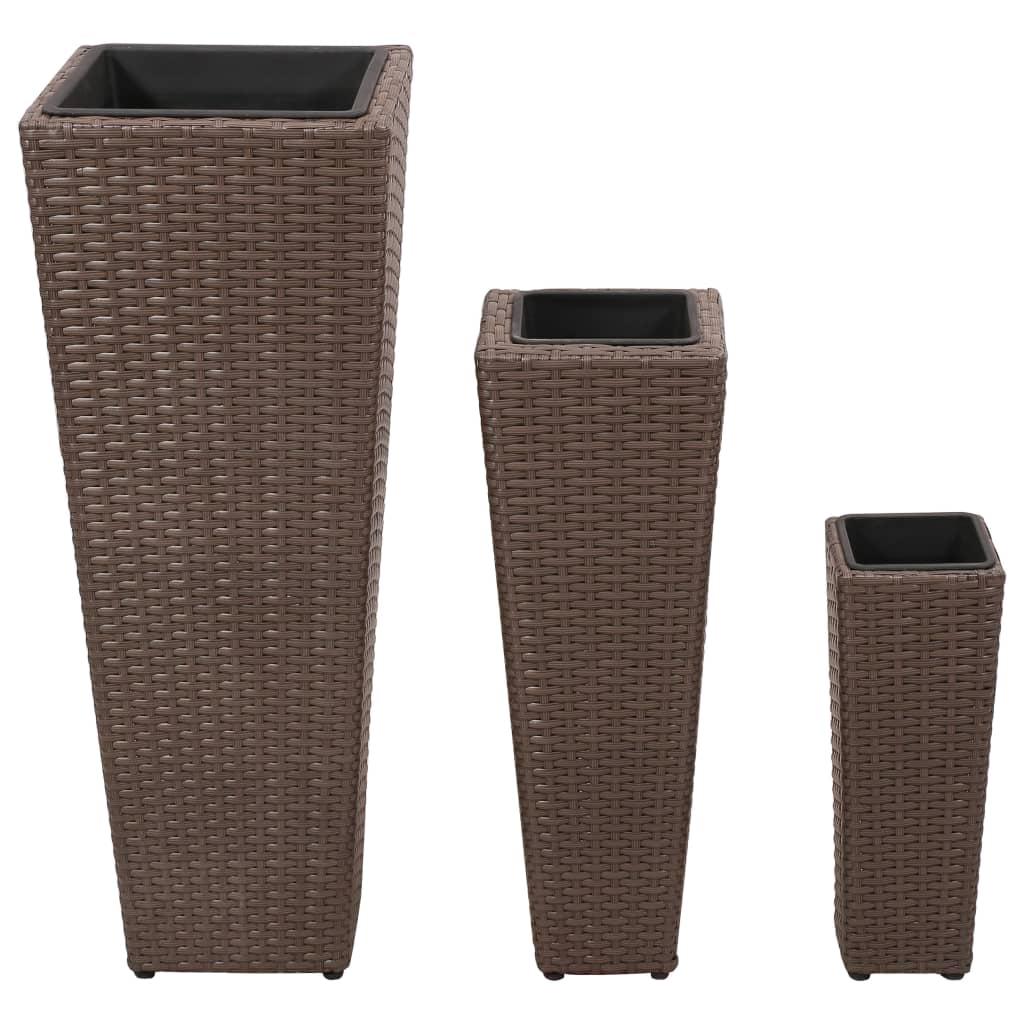 Articoli per vasi fioriere moderni in rattan caff set da for Vasi in rattan