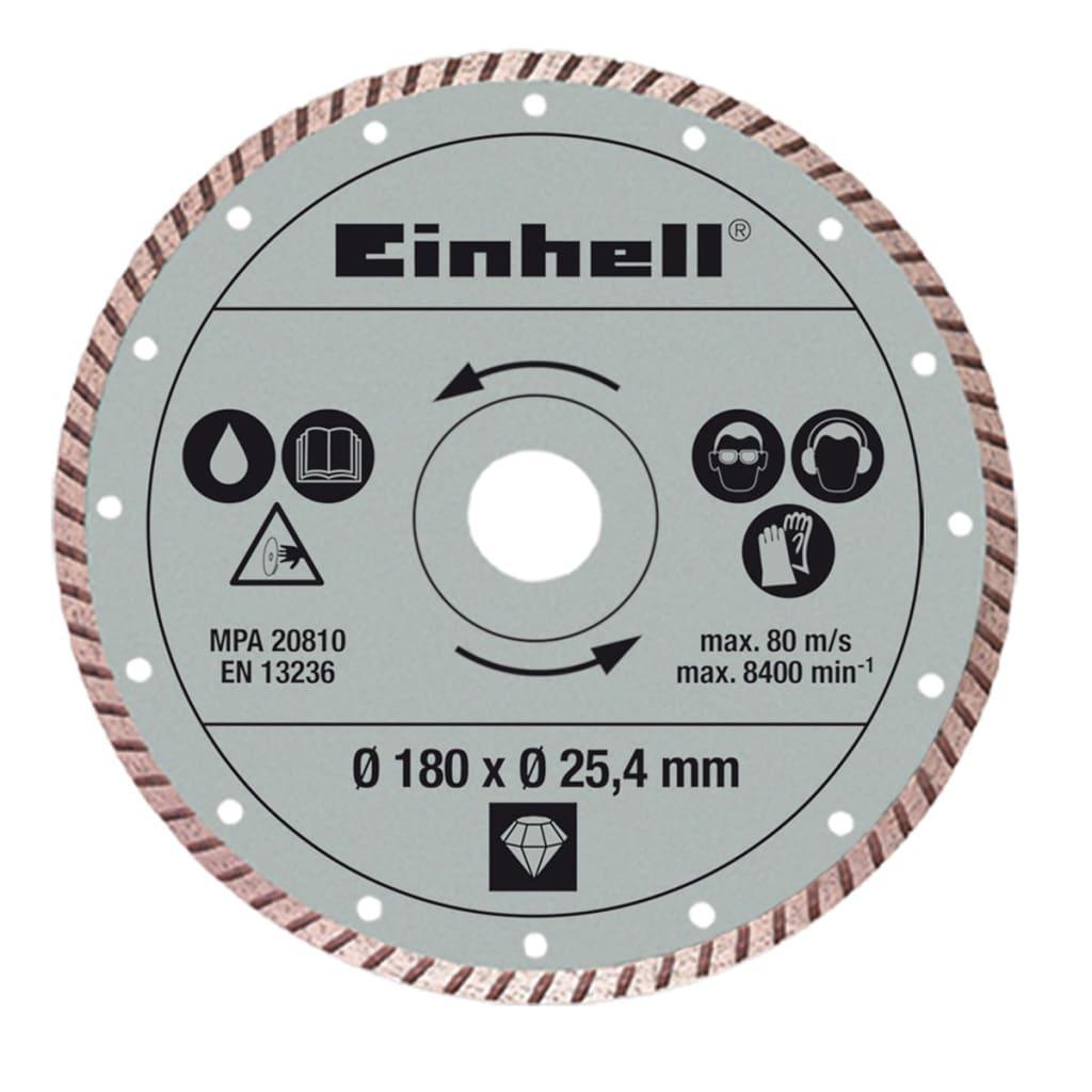 Acheter einhell disque coupe turbo 180 x 25 4 mm pour rt tc 430 u tc tc 618 pas cher - Disque coupe carrelage 180 mm ...