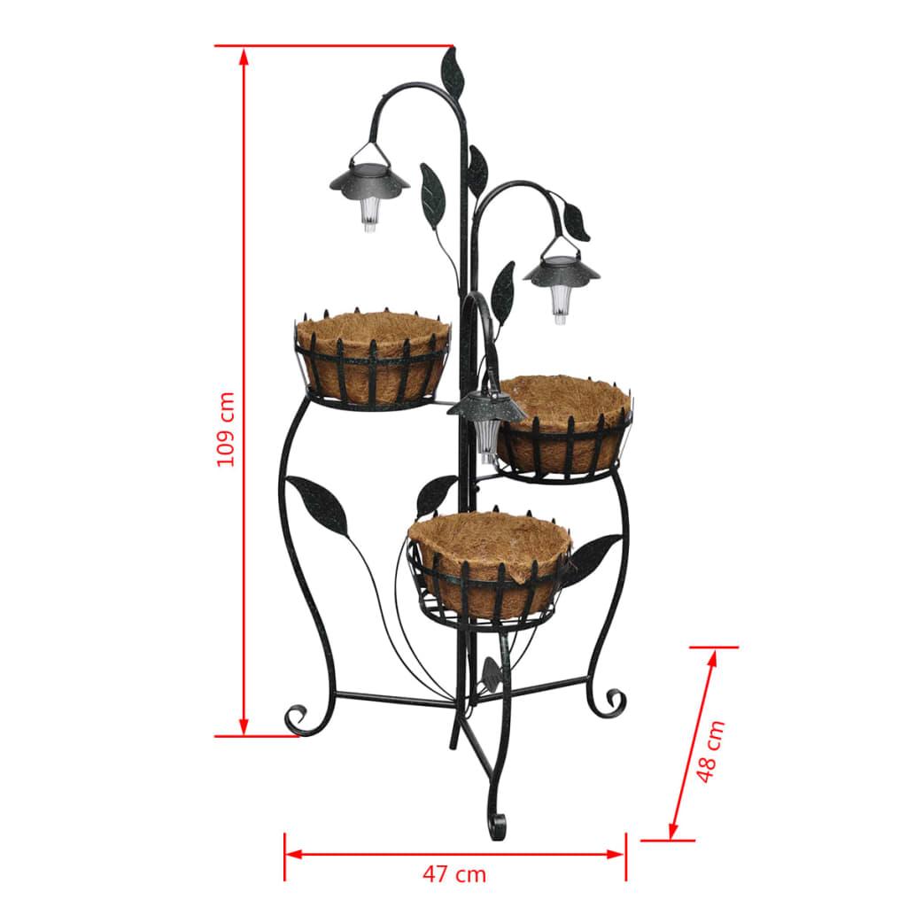 acheter panier fleurs suspendu en fibre de coco avec led. Black Bedroom Furniture Sets. Home Design Ideas