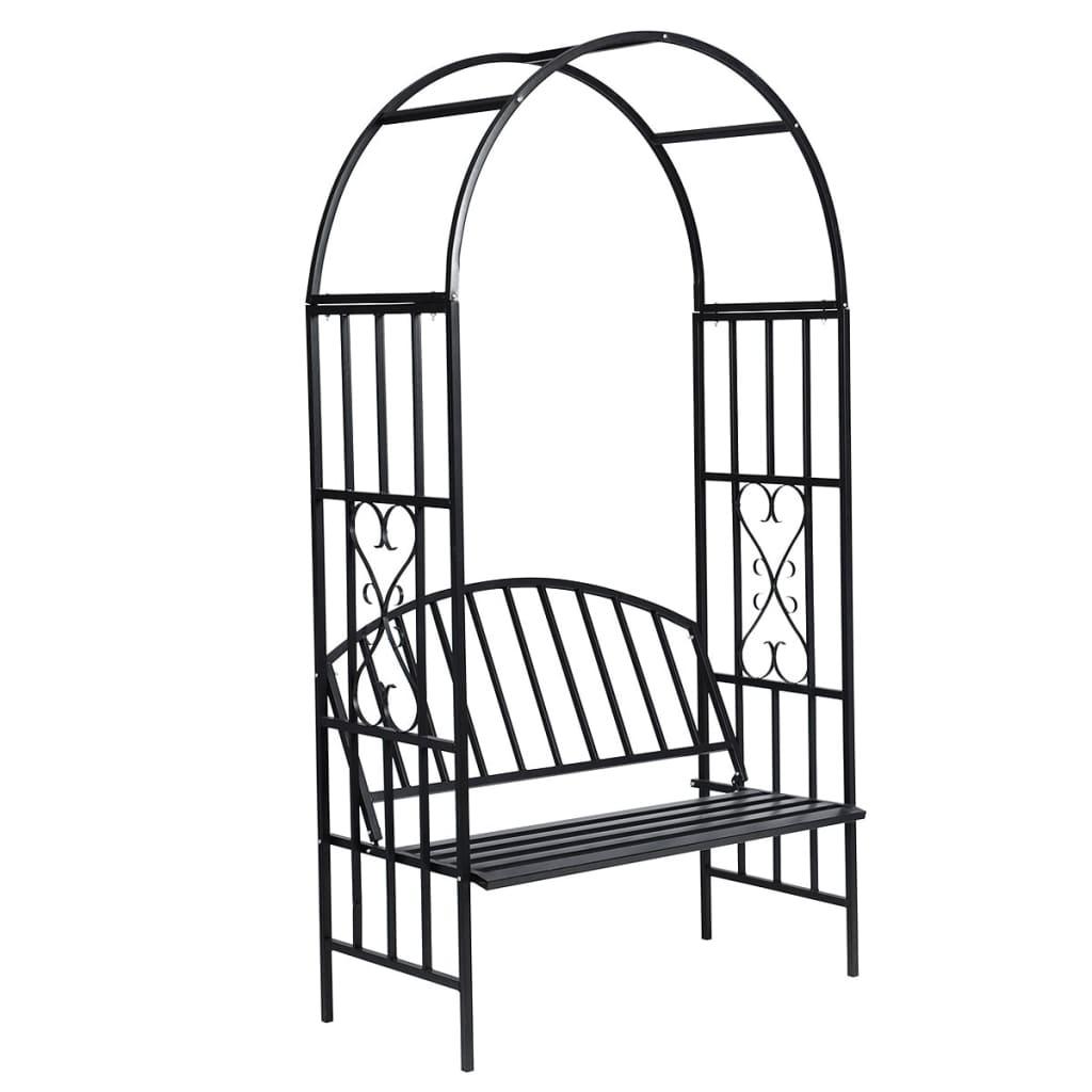 gartenbank mit rosenbogen rankhilfe zum schn ppchenpreis. Black Bedroom Furniture Sets. Home Design Ideas