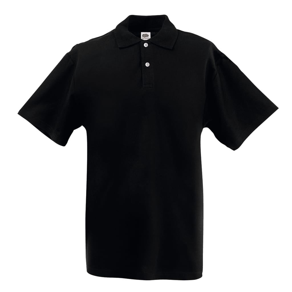 fruit of the loom original men 39 s polo shirt black xxxl. Black Bedroom Furniture Sets. Home Design Ideas