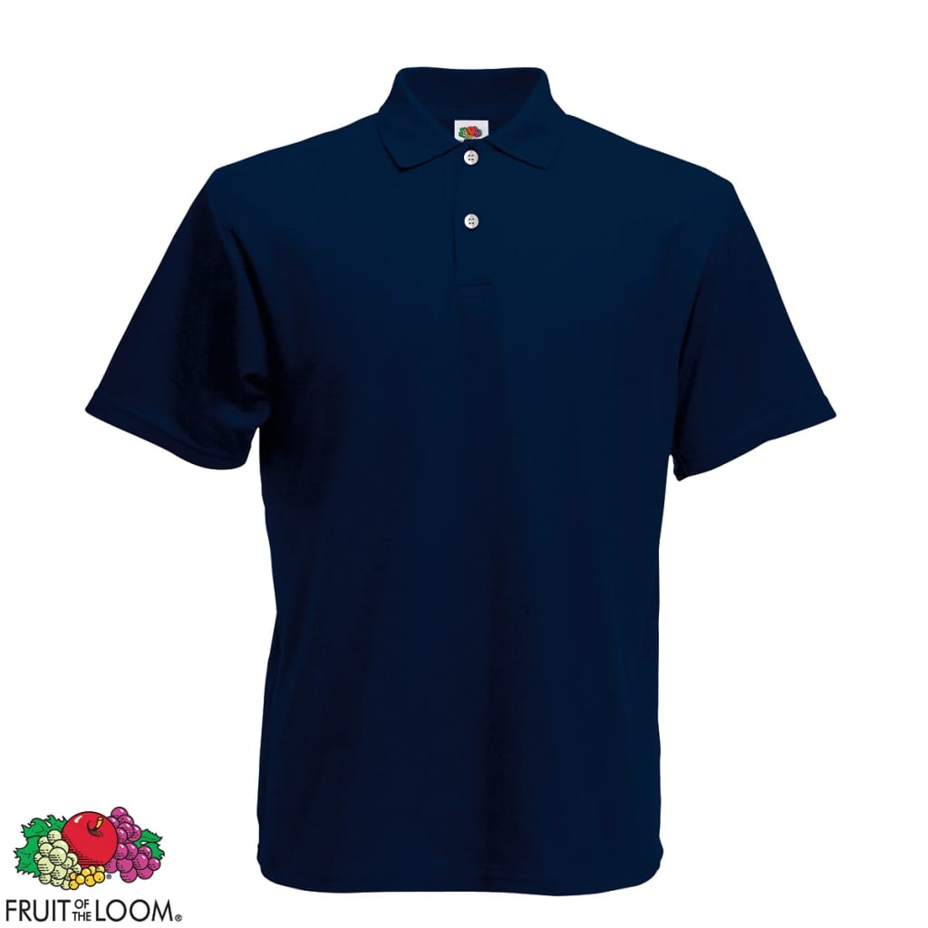 Fruit of the Loom Camiseta tipo polo azul marino talla M para hombres suéter