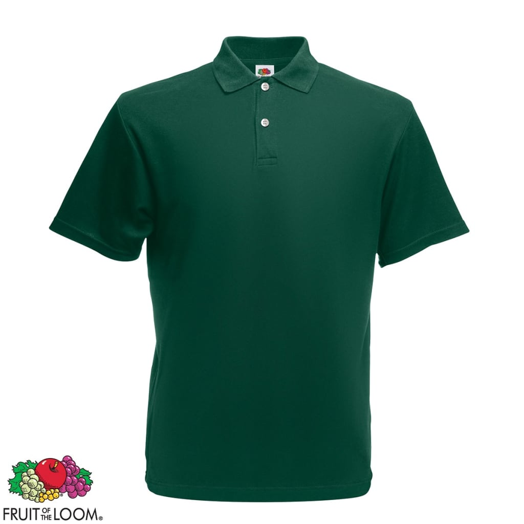fruit of the loom original men 39 s polo shirt forest green xxxl. Black Bedroom Furniture Sets. Home Design Ideas