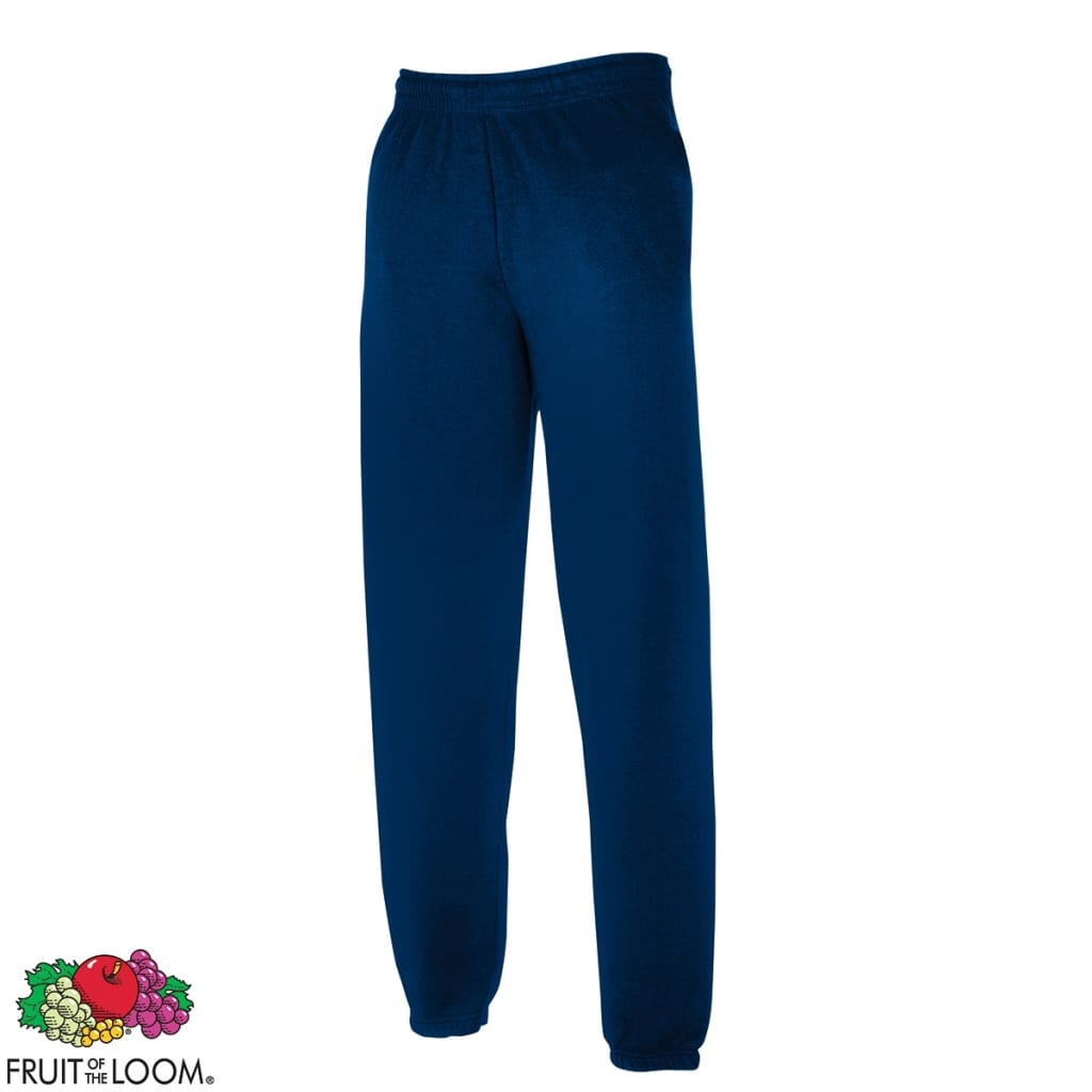 Fruit of the Loom Sweatpants con bajos elásticos azul marino talla M pantalones