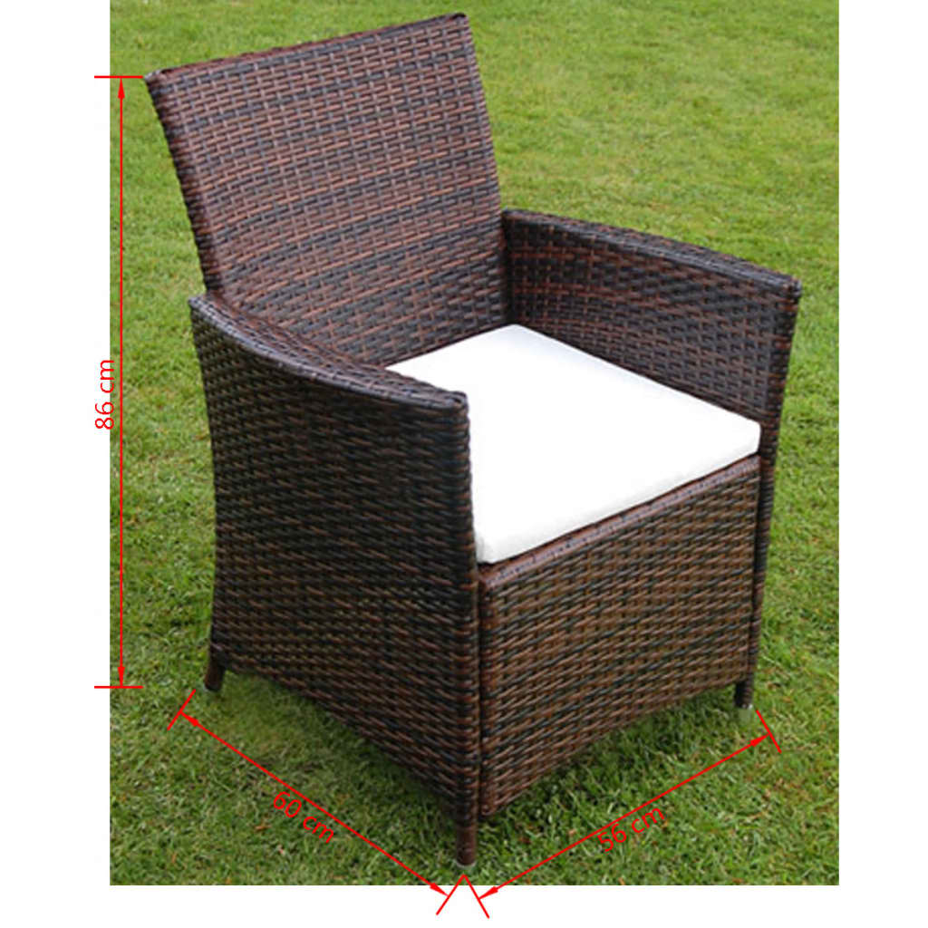 der poly rattan m bel 13 teilig gartenm bel set braun neu. Black Bedroom Furniture Sets. Home Design Ideas
