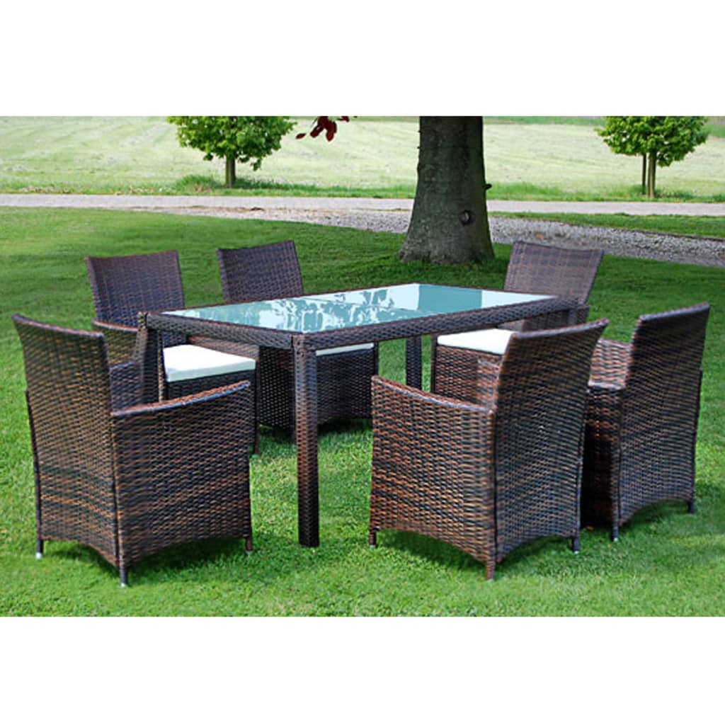 der poly rattan m bel 13 teilig gartenm bel set braun neu online shop. Black Bedroom Furniture Sets. Home Design Ideas