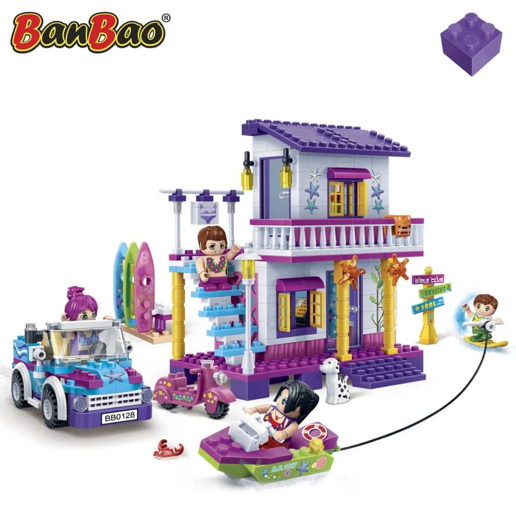 BanBao Children Pretend Building Brick Set Construction Toy Surf School 6125✓